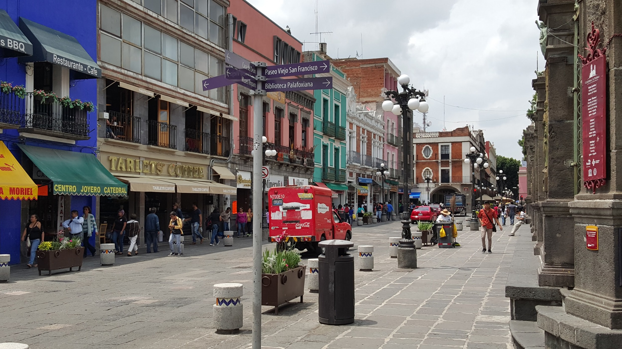 A street in Puebla.