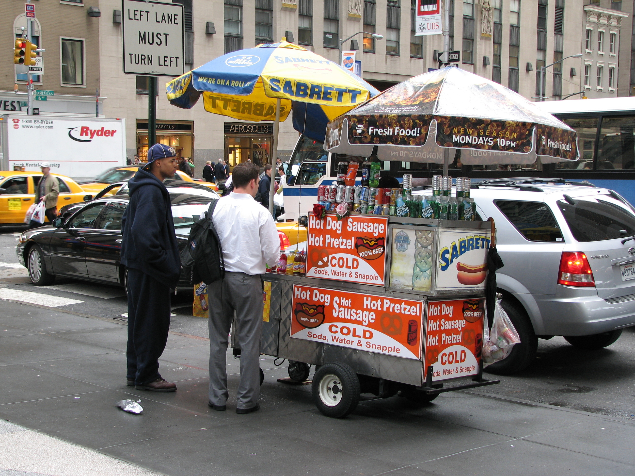A food cart in New York City.