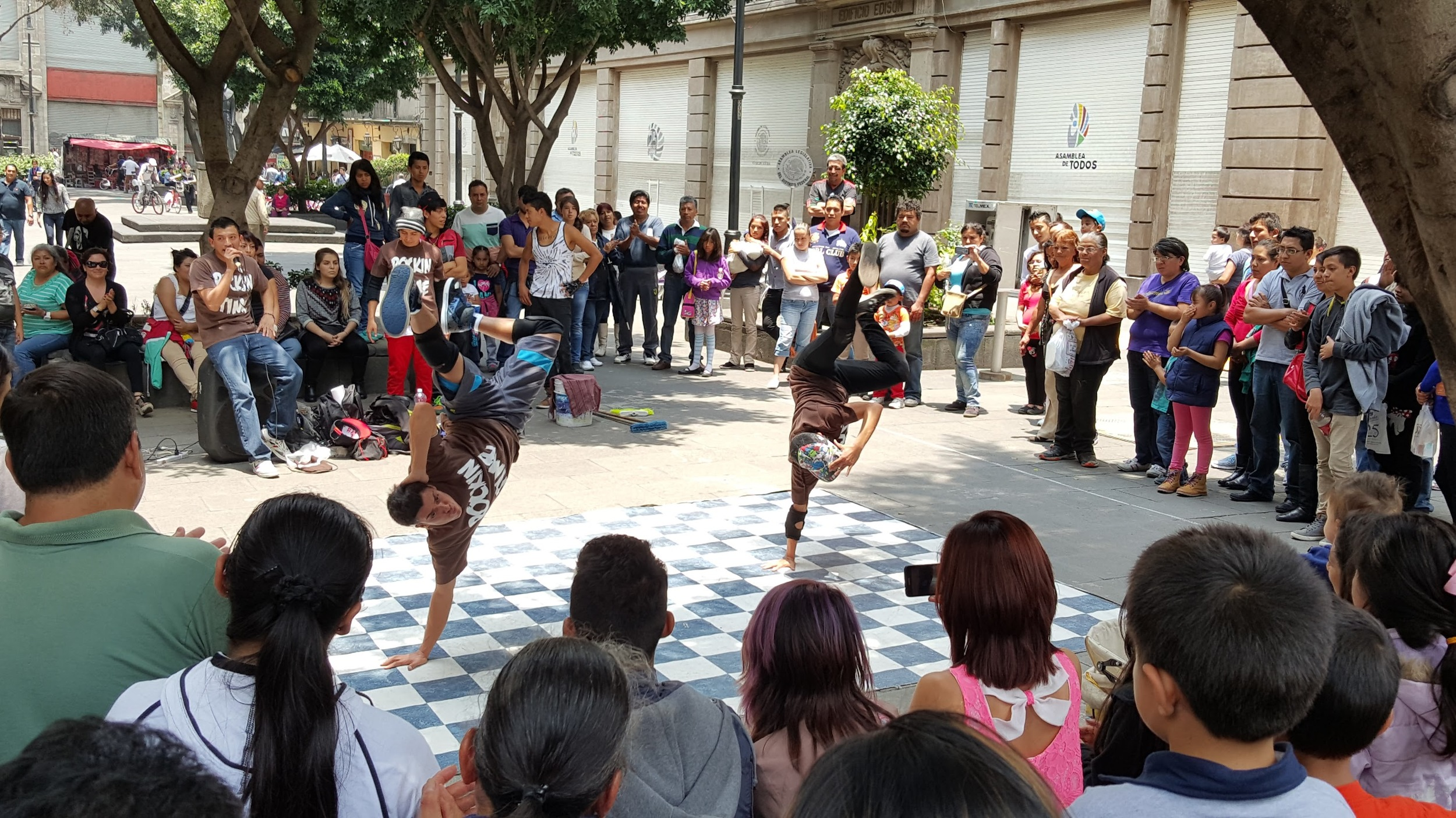 Dancers in Mexico City.