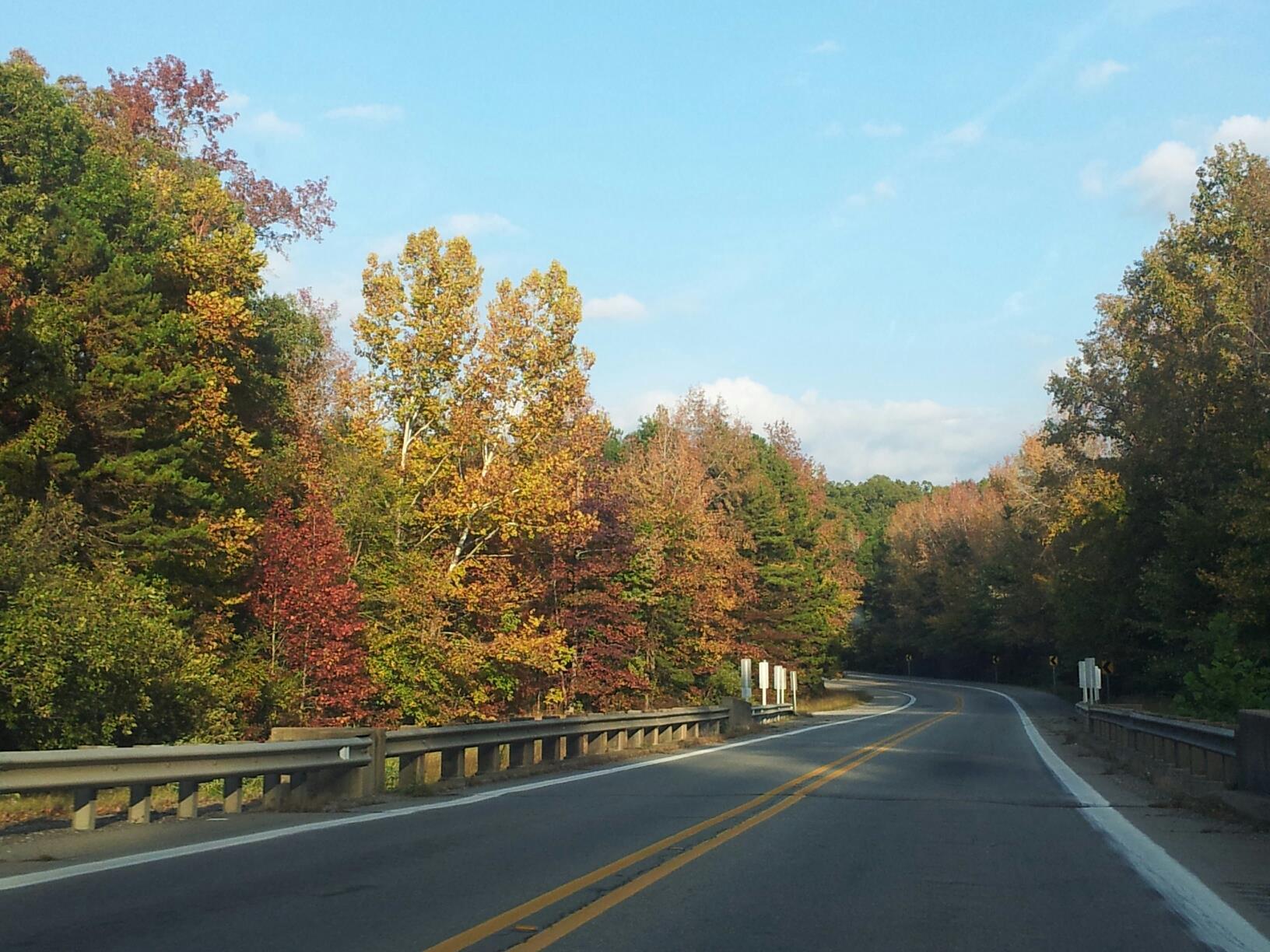 The open road in Arkansas.