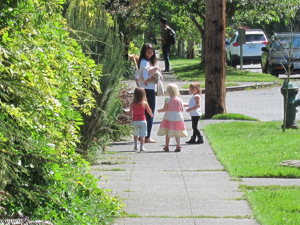 Funding for new and upgraded sidewalks, like this one in the Wallingford neighborhood of Seattle, is rarely available in state or local transportation packages.