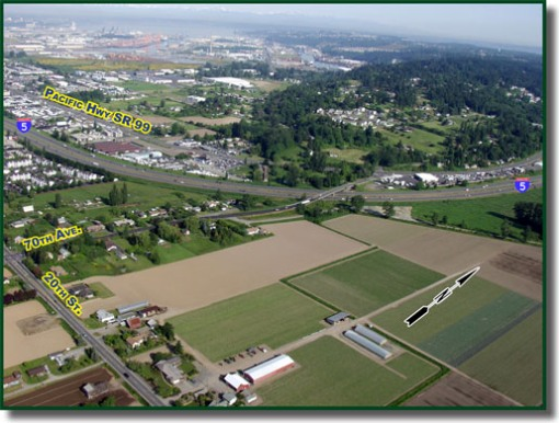 This is the existing I-5 and SR-167 interchange. ( WSDOT )
