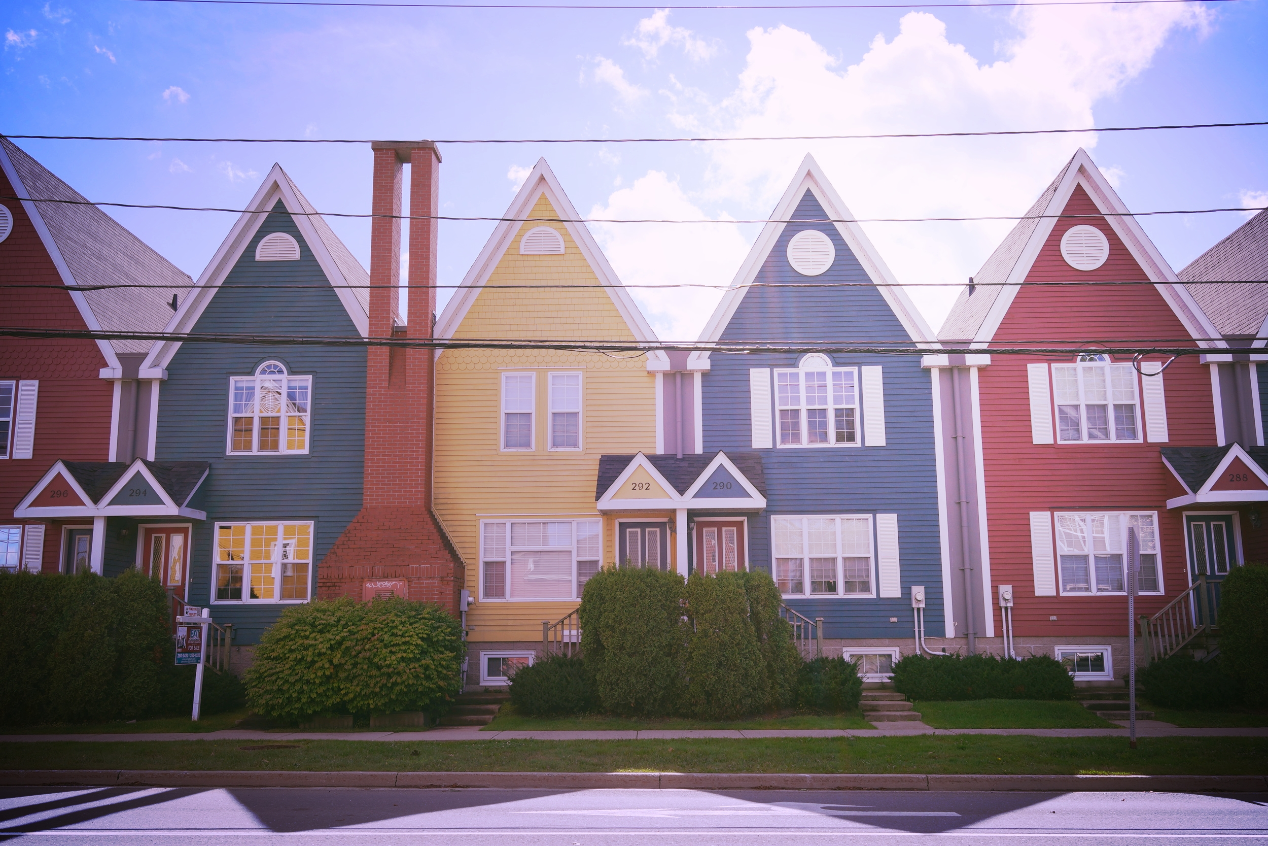 Townhouses in Fredericton, Canada
