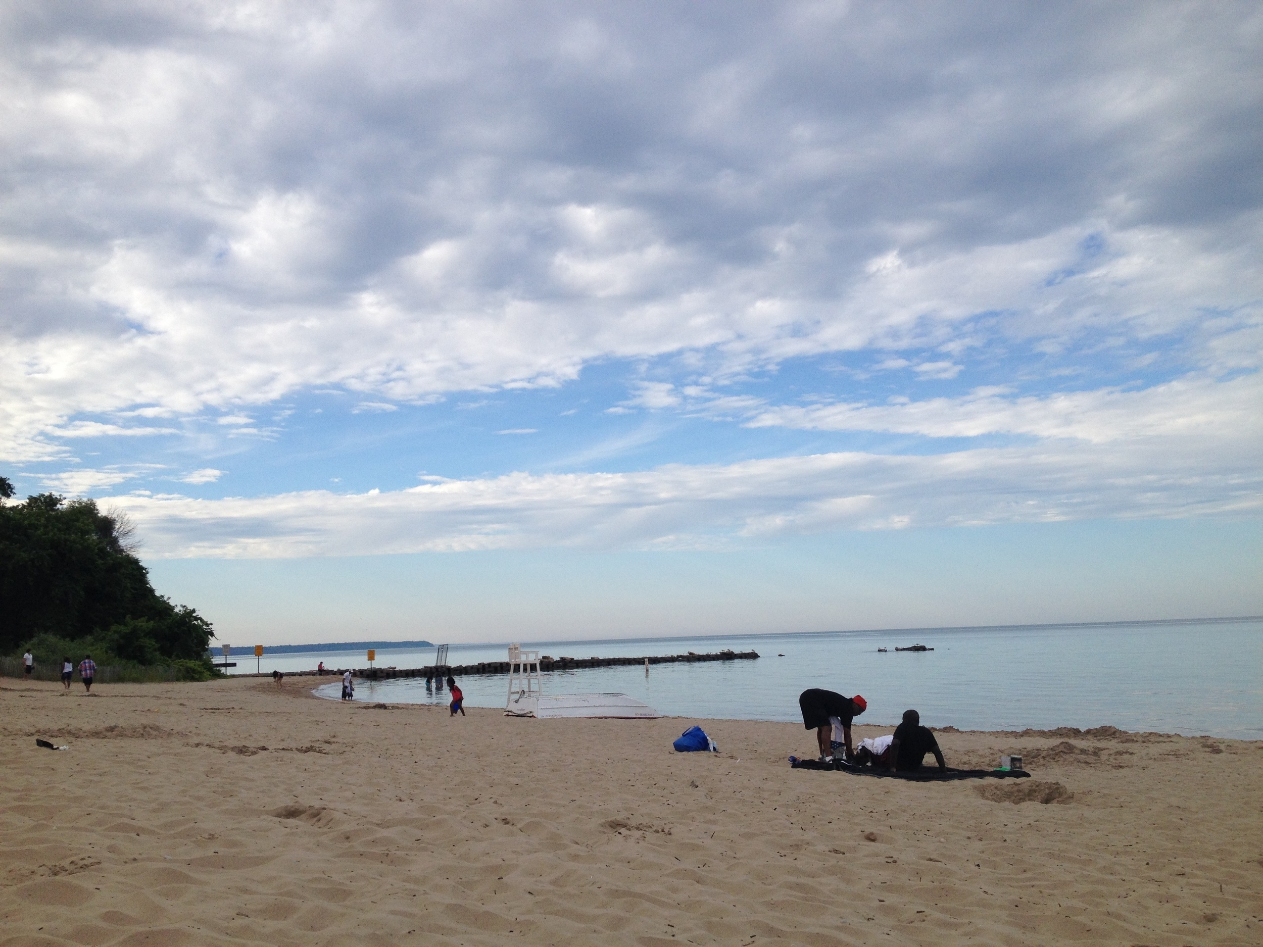 A beach on Lake Michigan, just north of Milwaukee