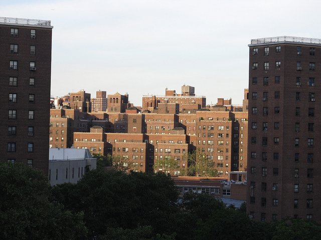 Public housing in New York City. Photo by  Ken Lund .