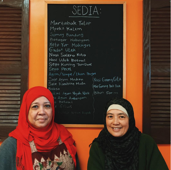 Mala (left) and Rina Soejoedi, the restaurant manager for Tempo Doeloe. Rina came to this country from India.