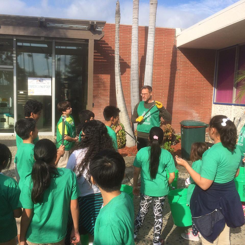 Green Bird Anaheim hosts a school cleanup at GOALS Academy
