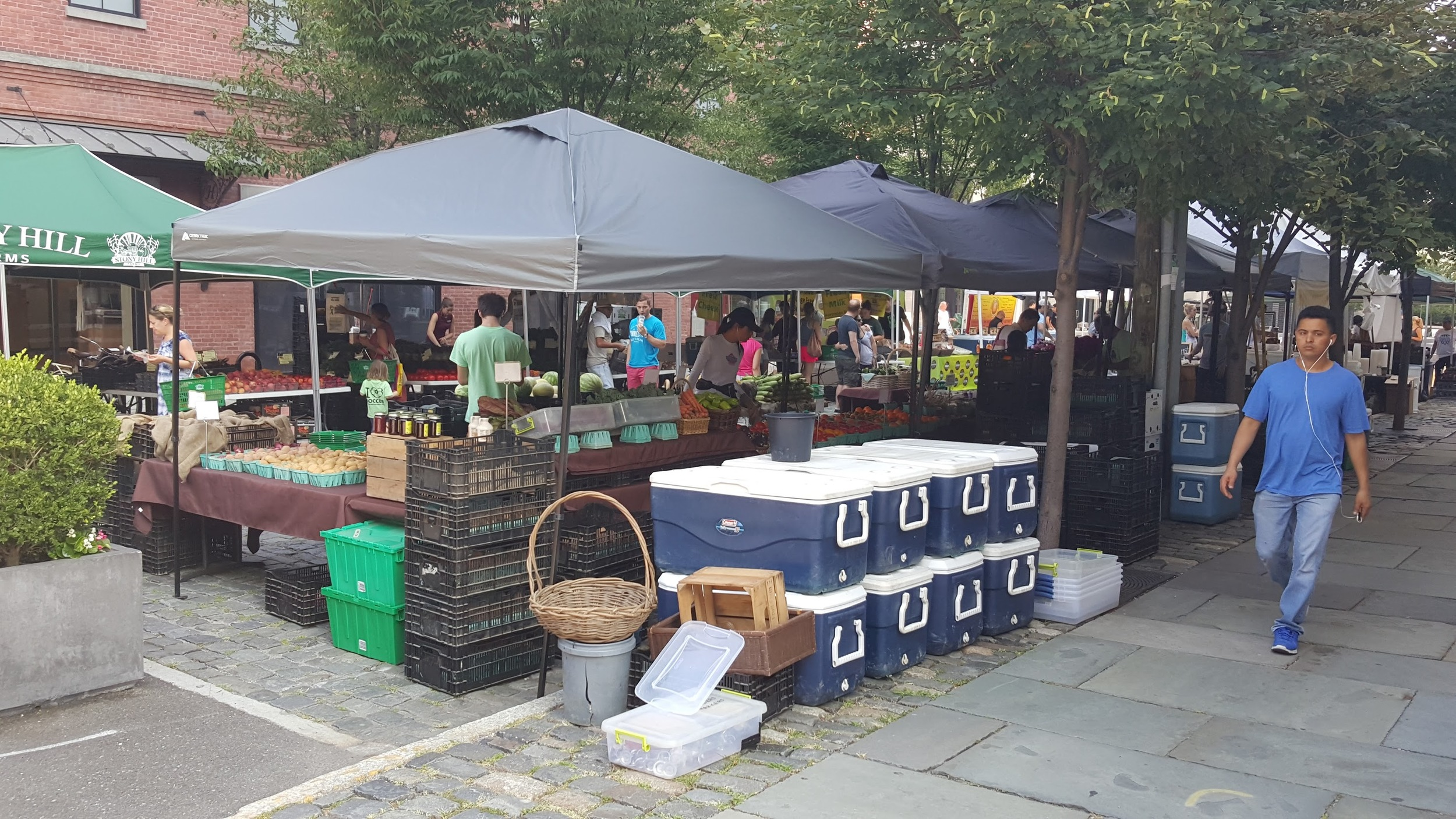 The Uptown Farmers' Market in Hoboken.