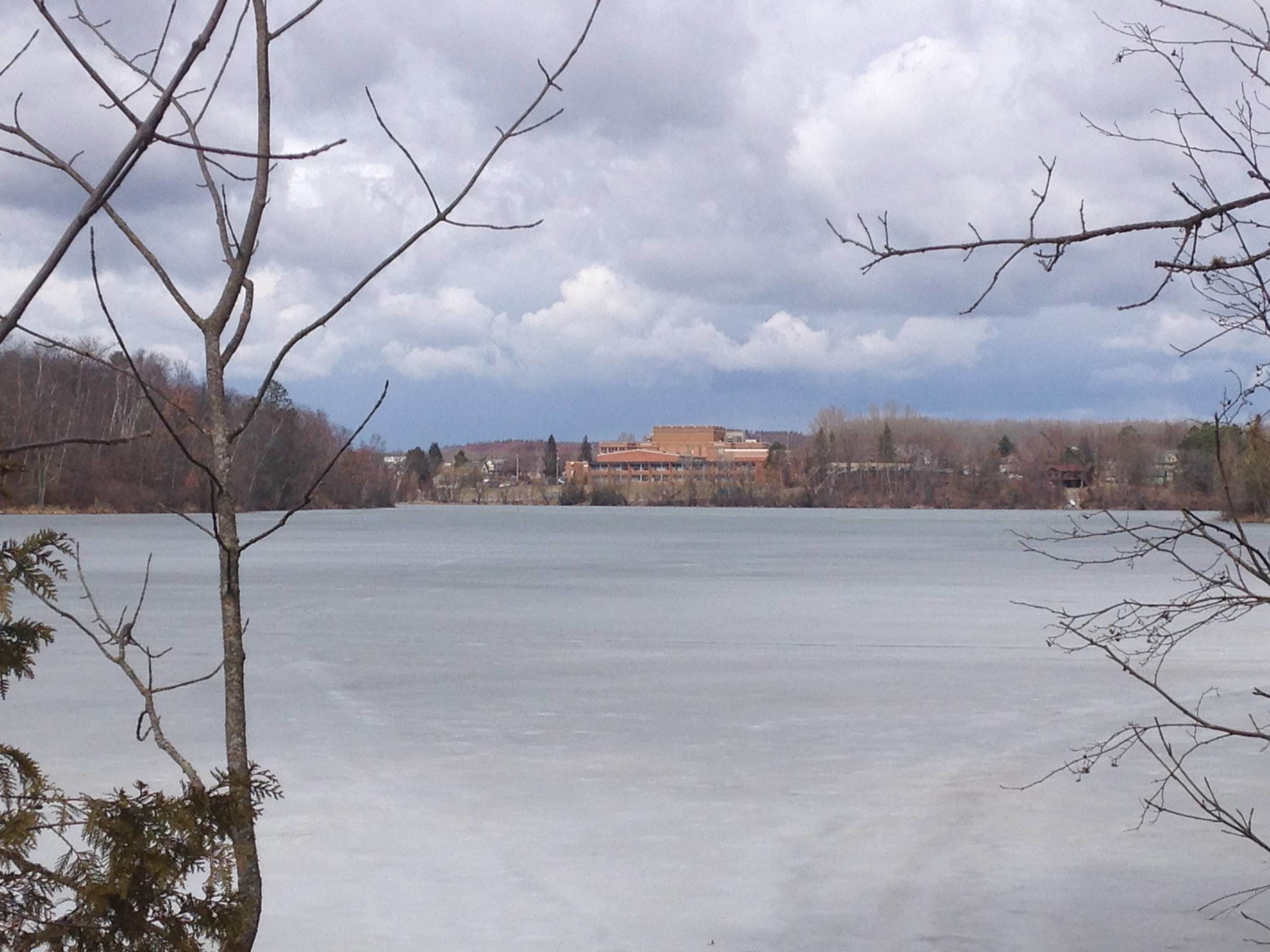 The town of Coleraine, as viewed from across Trout Lake