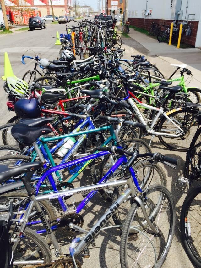 Overflowing bike parking