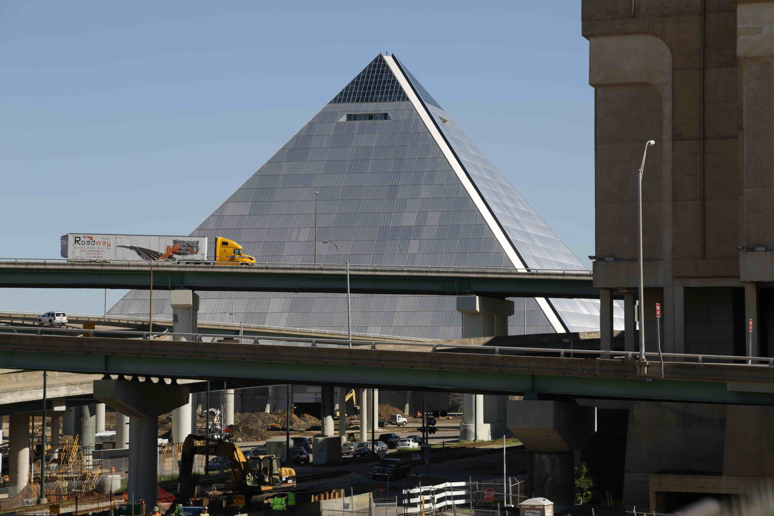An ill-fated megaproject.  Read more about the Memphis pyramid here .