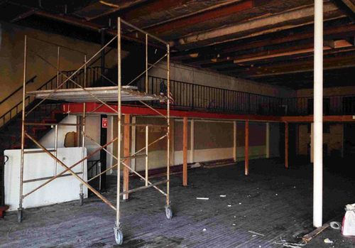 Before: interior of brewery