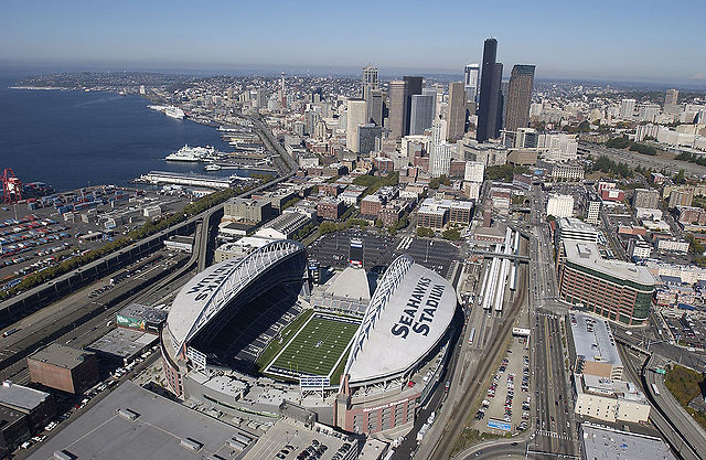 CenturyLink Field, home of the Seattle Seahawks. (Photo from Seattle Municipal Archives)