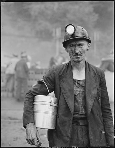 A coal miner in Appalachia, 1946.Photo by  Russell Lee