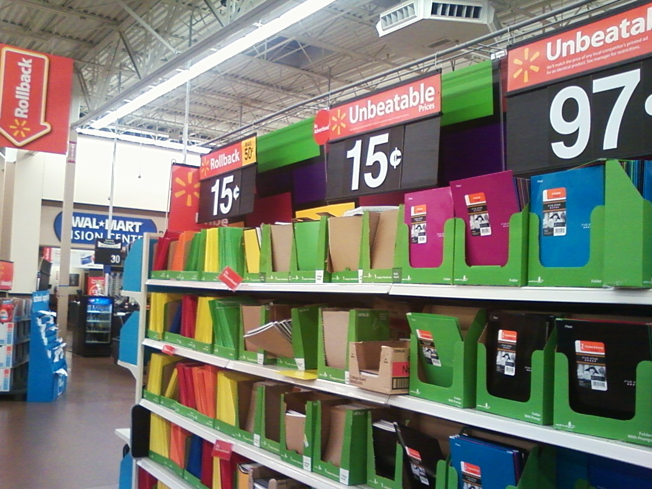 Walmart's low prices.  Image from  Wikipedia