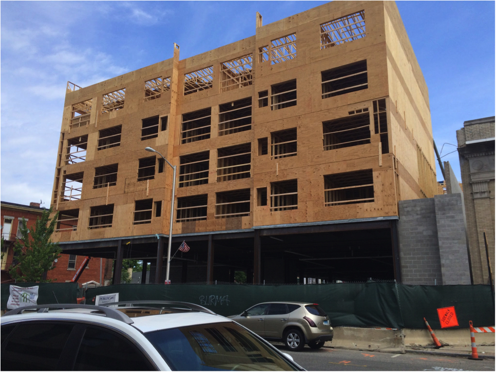 A mixed-use development going up in a historic section of Norwalk