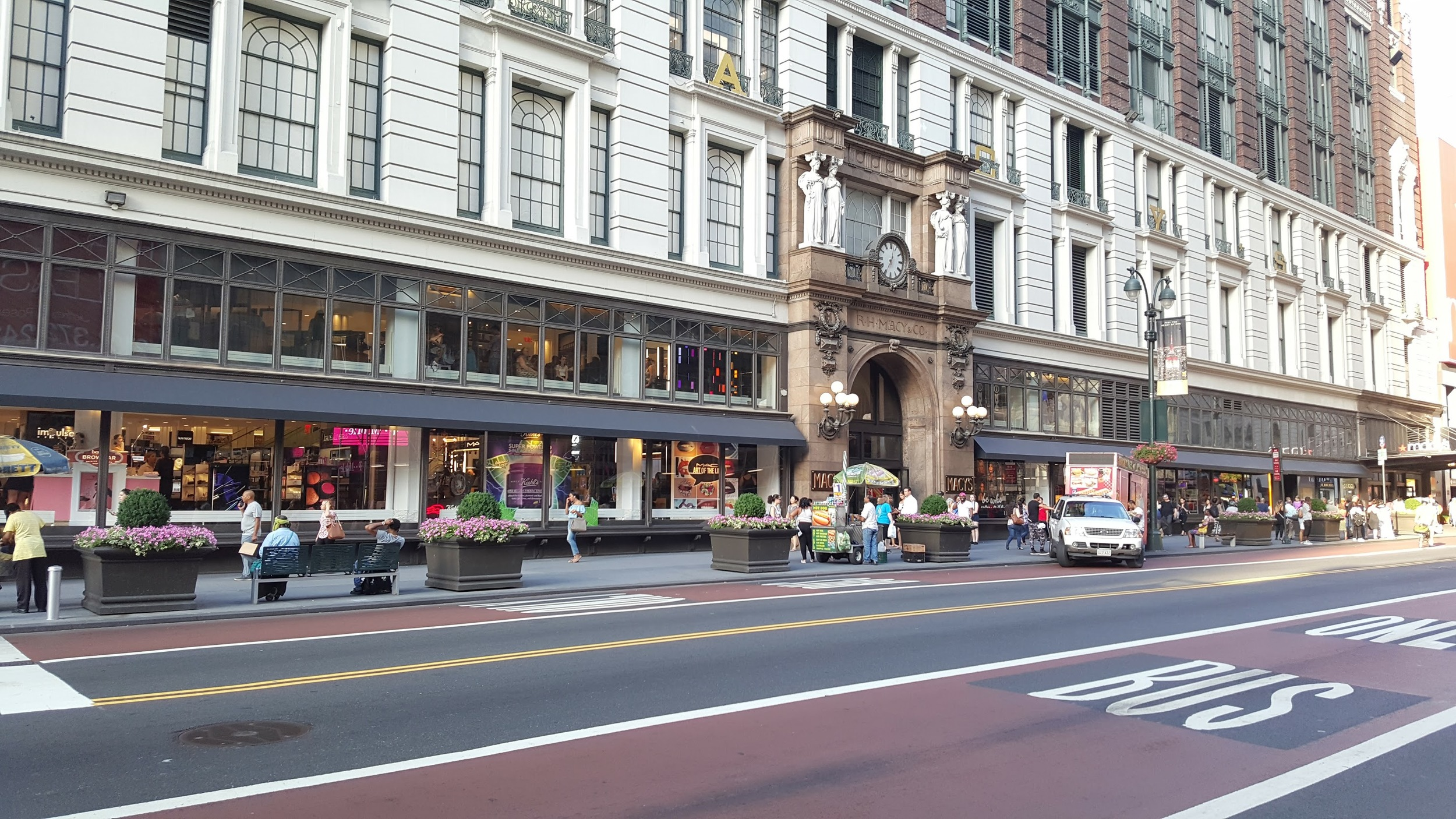 The 34th Street side of Macy's.