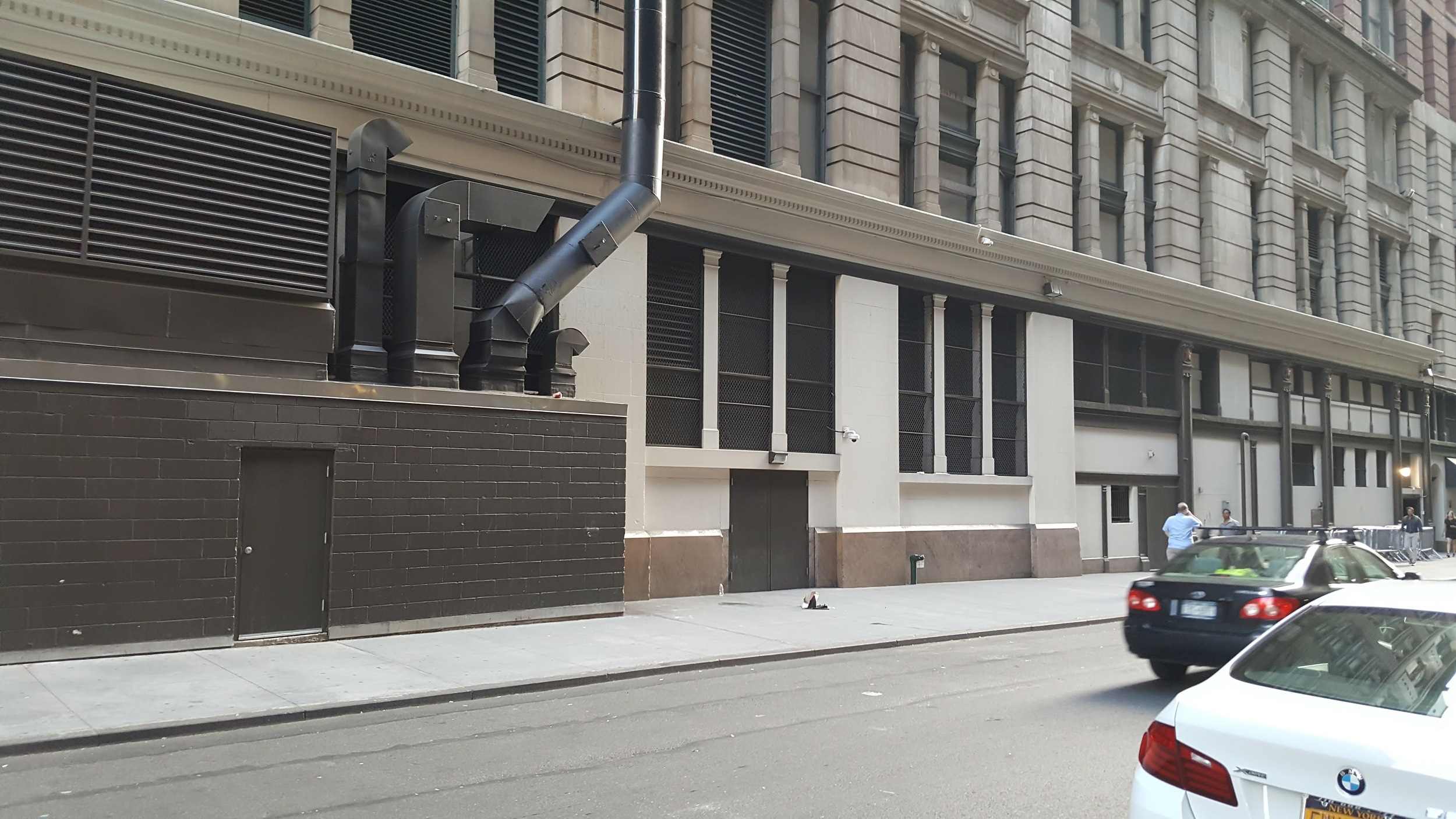 The 35th Street side of Macy's with no doors.
