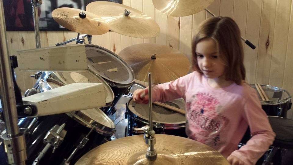 My youngest learning tricks of the trade.