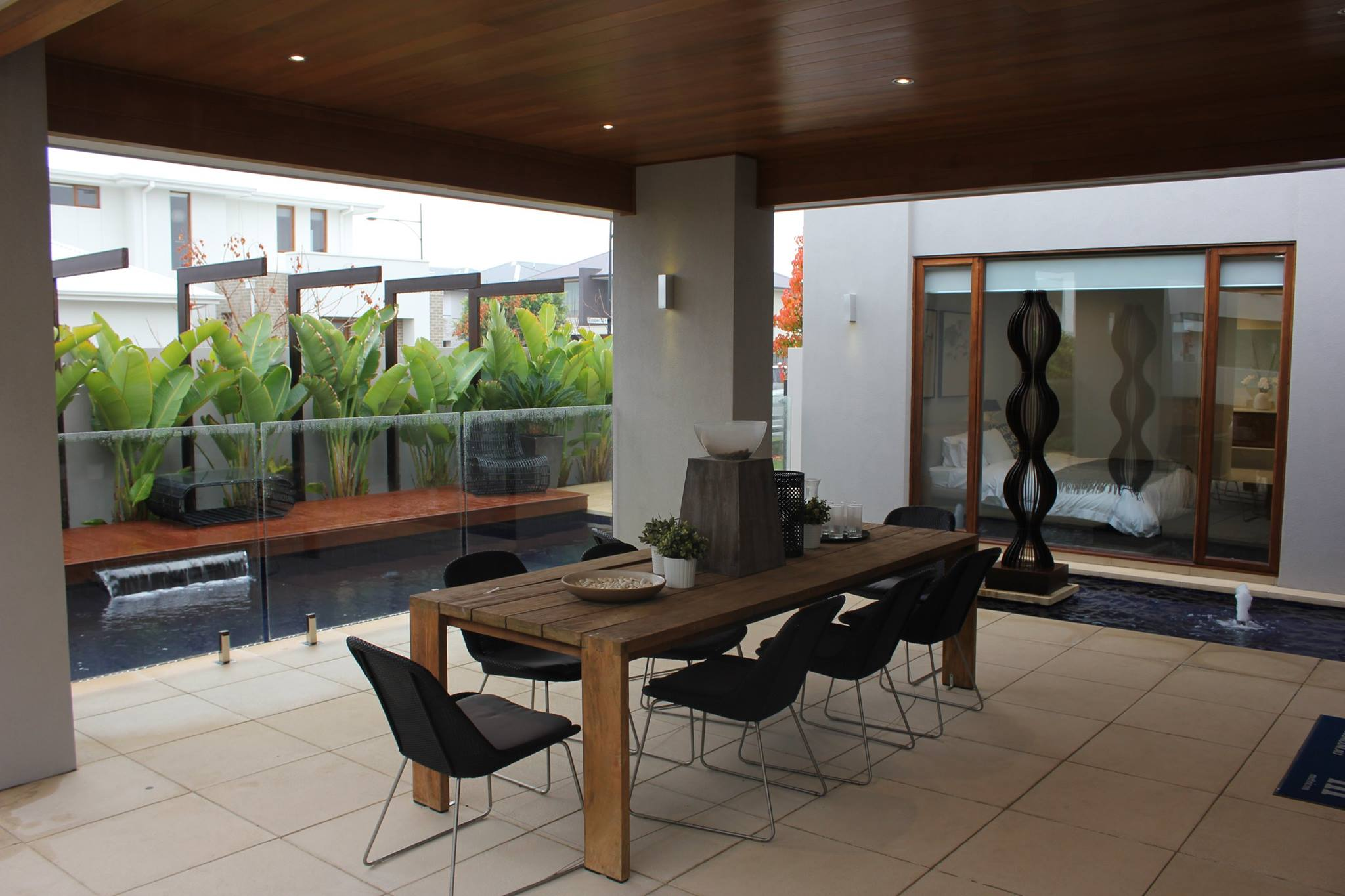 A courtyard of a showhome with a very small yard in Australia. You could do something similar.