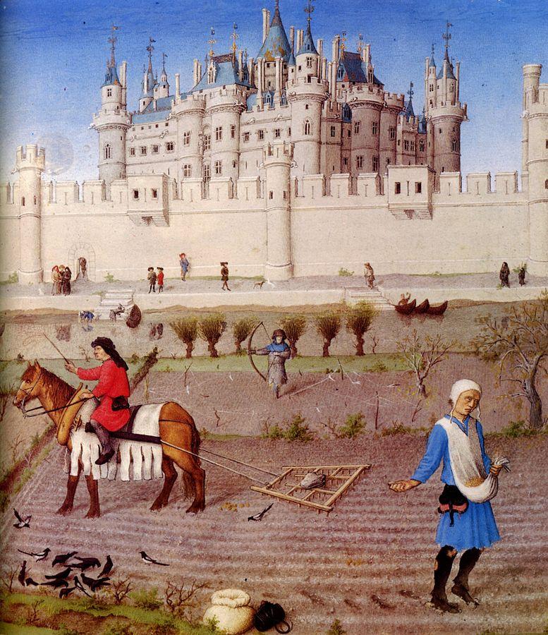 Image from   Très Riches Heures du Duc de Berry