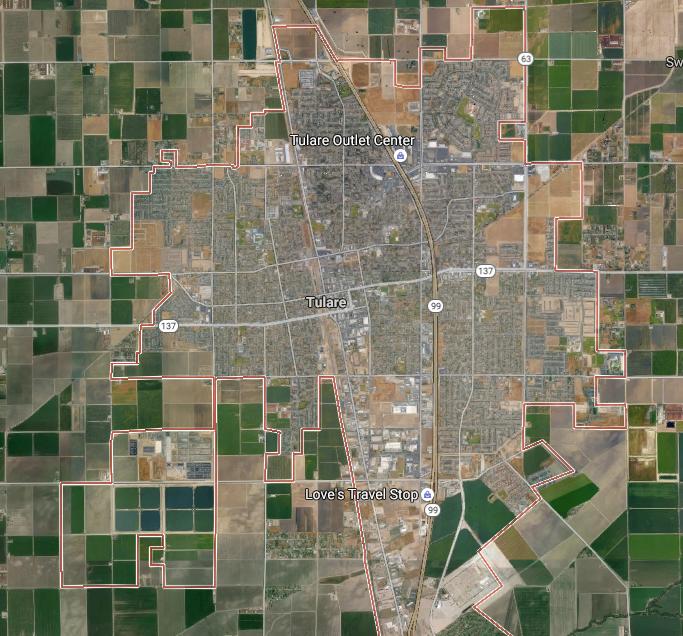 Tulsa, CA  (from Google maps)