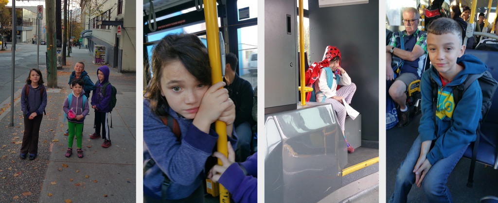 Snapshots from a successful first week of busing with the nerds.