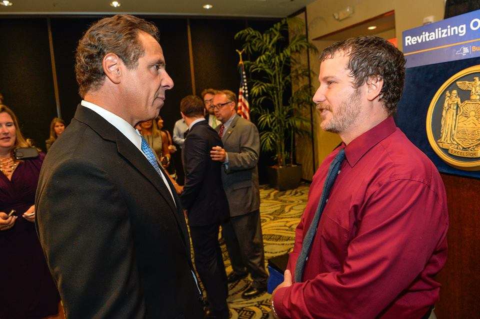 Paul Stewart meets with Gov. Andrew Cuomo
