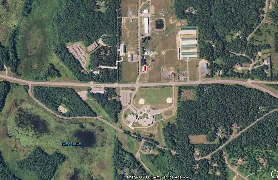 Eagleview in Breezy Point, MN. (Photo from Google Earth.)