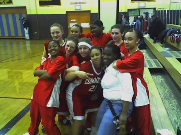 The author's daughters with their basketball team, the Commerce High School  Lady Raiders