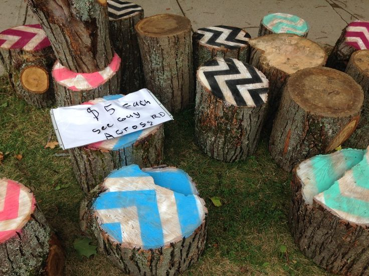 Gracen Johnson's famous stump chair project  in Fredericton, NB