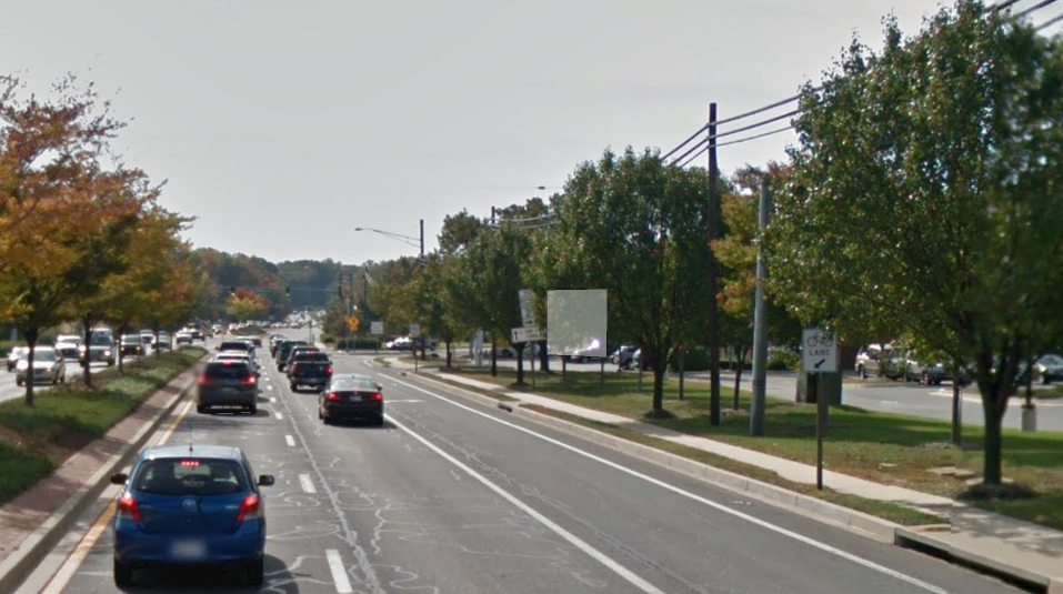 On road bike lane on MD 2 in Edgewater, Maryland. I ride here often, but I am in the Strong and Fearless Group. (Google)