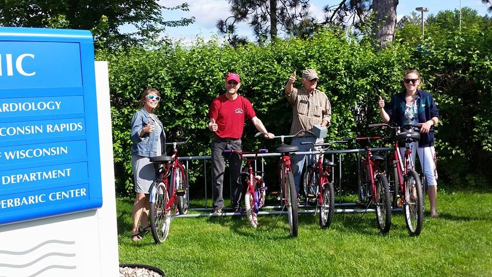 River Riders bike share in action (Photo from River Riders Facebook)