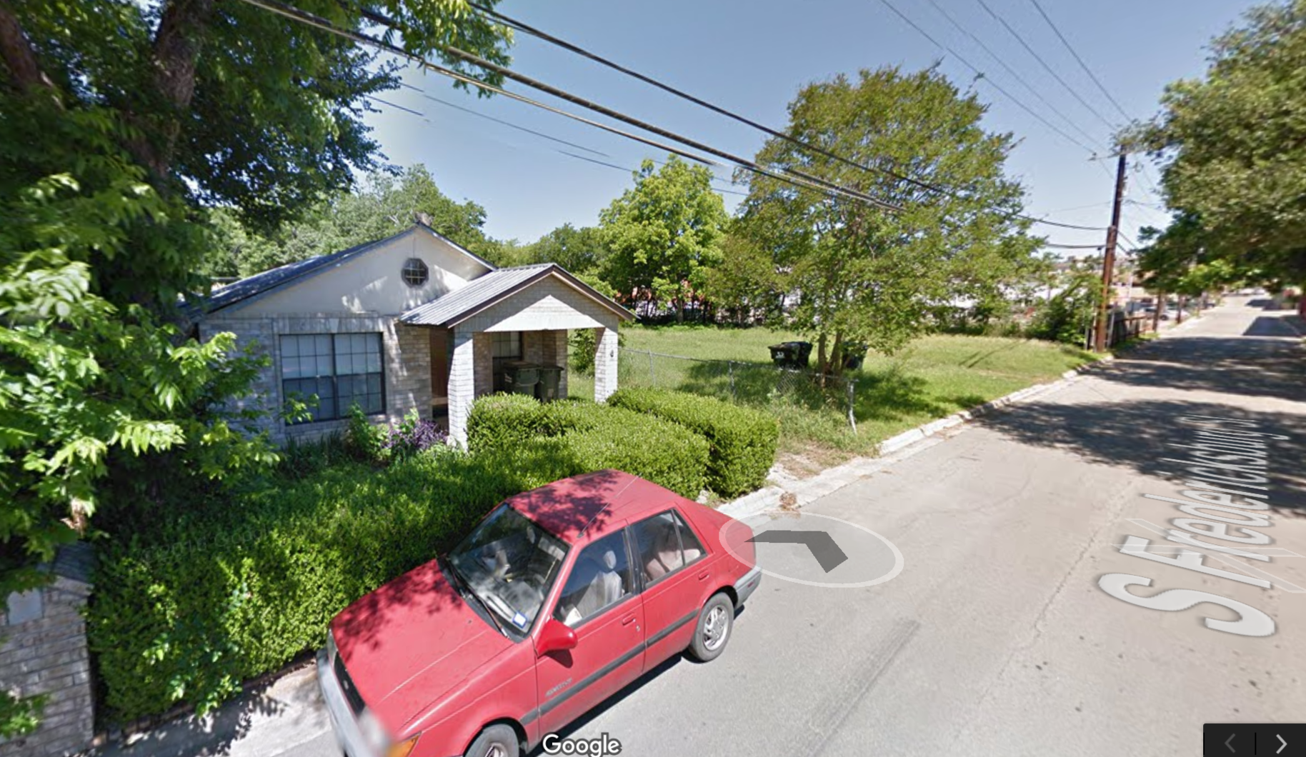 T-5 zoning in San Marcos, TX. Should be T-2 or, at most, T-3 since that is the next increment of intensity. T-5 simply distorts the underlying land values, jacks up housing prices and stagnates the entire neighborhood. Image from Google.