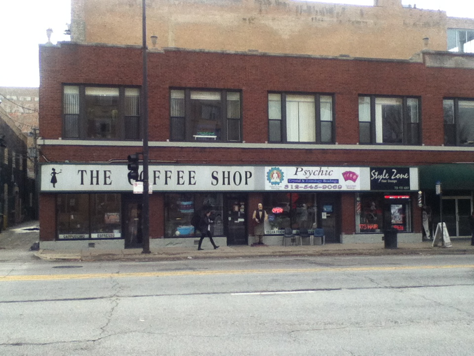 The Coffee Shop near Loyola's campus.Within a block are a Starbucks and two Dunkin Donuts.