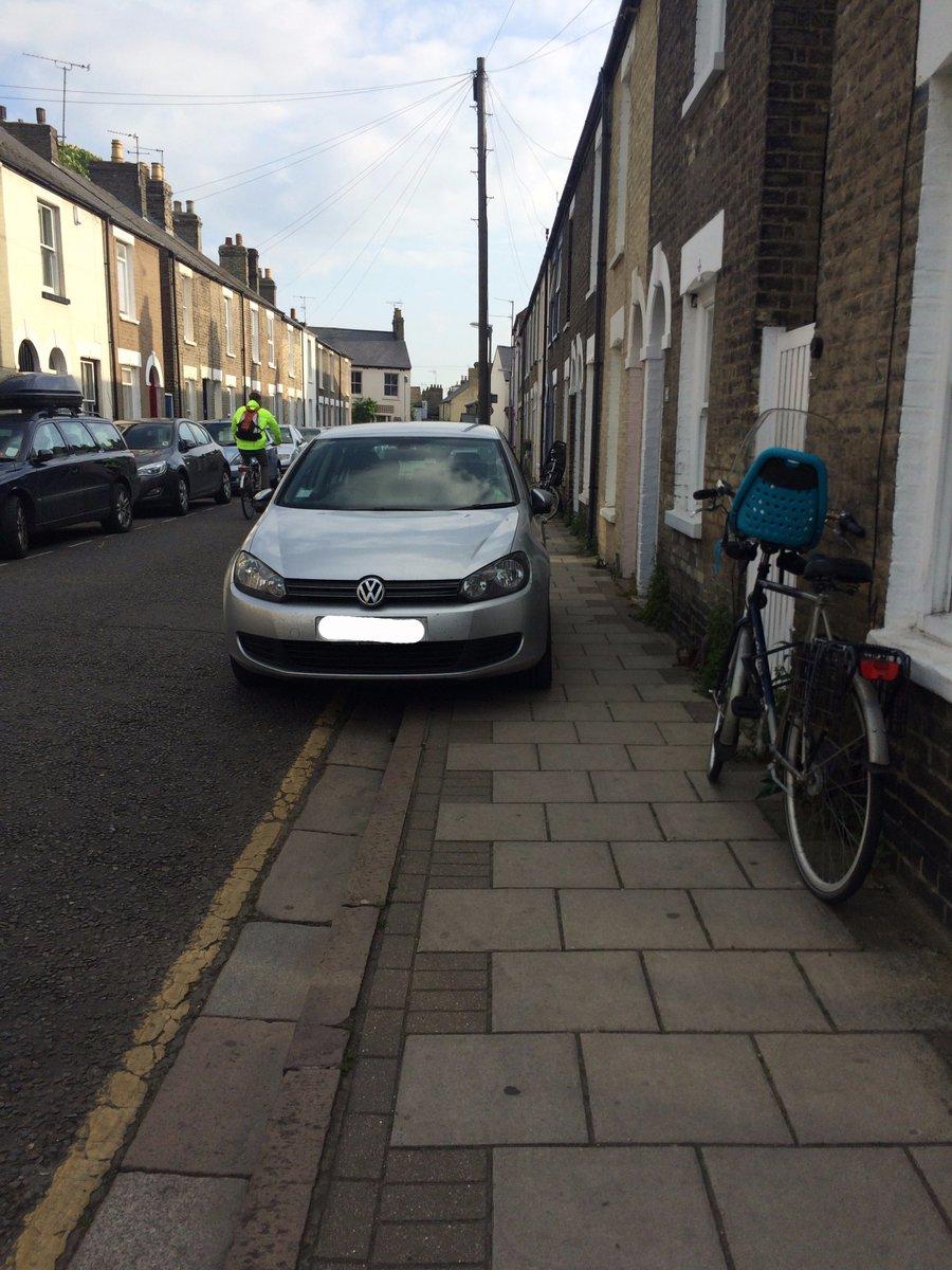 Cramped parking in Cambridge, UK.  (Source)