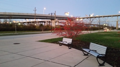 Benches, sidewalks, vegetation and decorative lighting transform urban spaces (not).