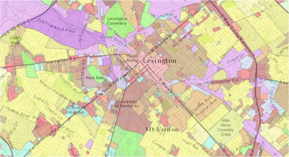There really needs to be a meditative coloring book filled with zoning maps. (Lexington-Fayette Urban County Government)