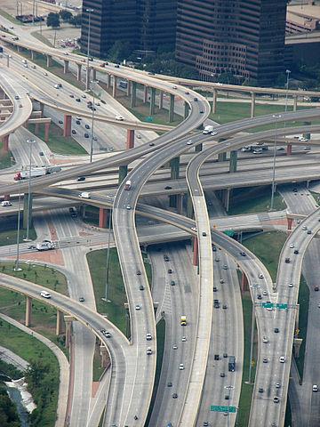 The High Five interchange in Dallas (Photo by  austrini )