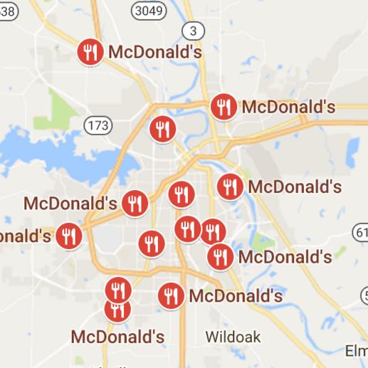 Shreveport area McDonalds.(Image from google maps.)
