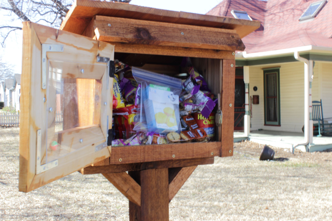 Public pantry in my neighbor's yard (Photo: Thomas Cook, The Lewisville Texan Journal)