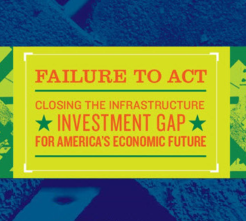 Image from the cover of an ASCE infrastructure report (from  ASCE.org )