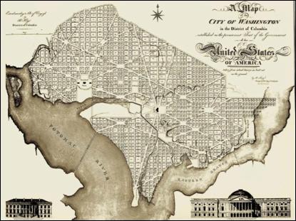 """Washington, DC: """"L'Enfant Plan"""""""