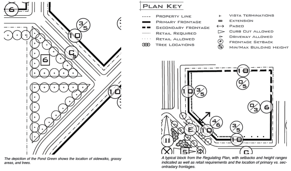 Carmel, Indiana  Midtown Regulating Plan .Prepared by Speck and Associates. (Cropped and modified by Alexander Dukes to fit page)