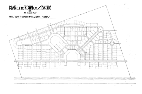 Plan of Seaside, FL  c.1980 by  Duany & Plater-Zyberg