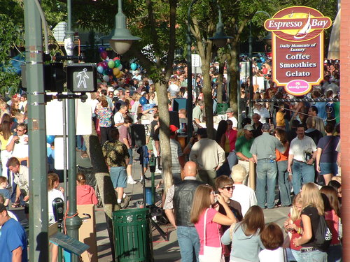 Front Street in Traverse City during the summer. (Photo by Russ Soyring)