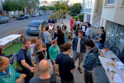 Adam Greenfield's birthday party and neighborhood social a few years ago (Source: Adam Greenfield)