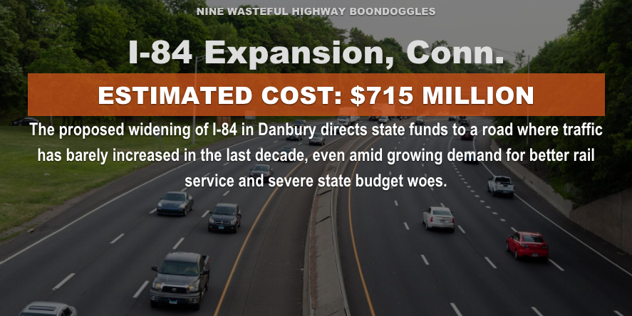 Graphic from Highway Boondoggles 3 report.