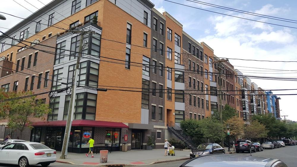 A huge block size building in Hoboken.
