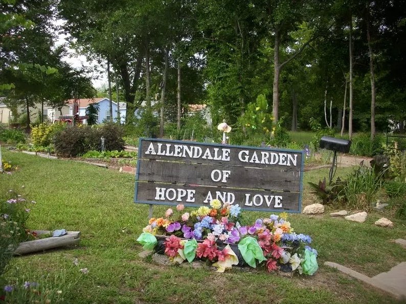 A beloved community garden that would be destroyed by the I-49 highway.  Read more .